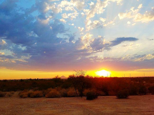 Arizona Sunset Scenics Cloud - Sky Dramatic Sky Landscape Multi Colored Nature Sunlight Rural Scene Beauty Beauty In Nature