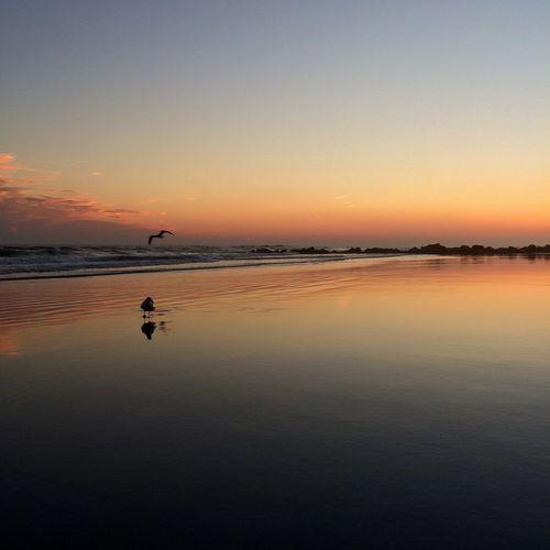 Sunset At Long Beach, NY Eyem Best Shots Nature_collection Splendid_reflections Visualmagic EyeEm Best Shots Sunset #sun #clouds #skylovers #sky #nature #beautifulinnature #naturalbeauty #photography #landscape Sky Collection EyeEm Sunset Beautiful Sky Popular Photos