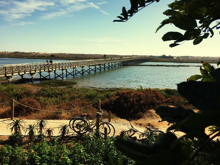 Quinta Do Lago Portugal Bicycle Water Sky Nature Mode Of Transport Beauty In Nature Outdoors No People Scenics Grass Day Bridge