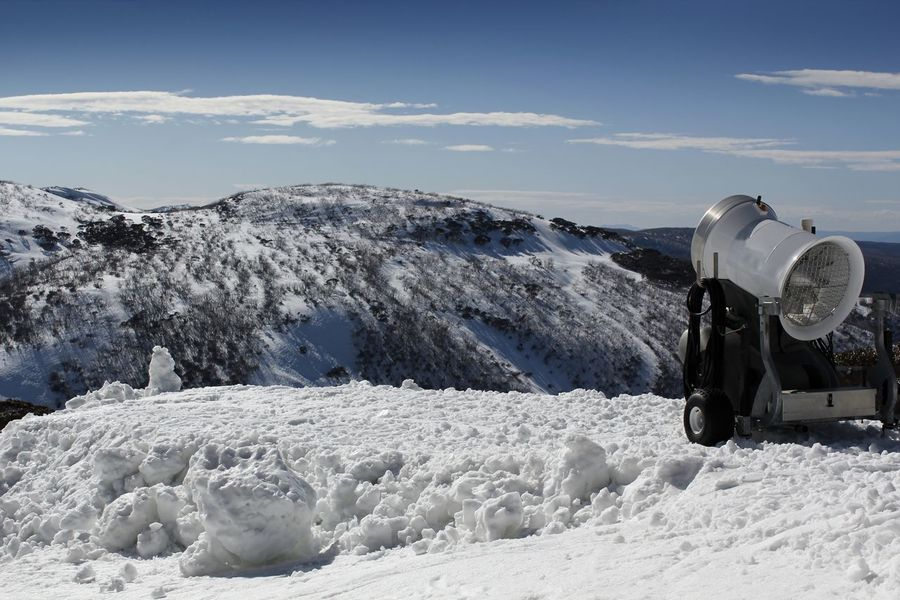 A snow maker ready for action on the mountain side in Victoria Australia Australian Landscape Travel Photography Beauty In Nature Cold Temperature Day Landscape Mountain Nature No People Outdoors Scenics Sky Snow Snow Maker Snow Making Machine Snowcapped Mountain Winter