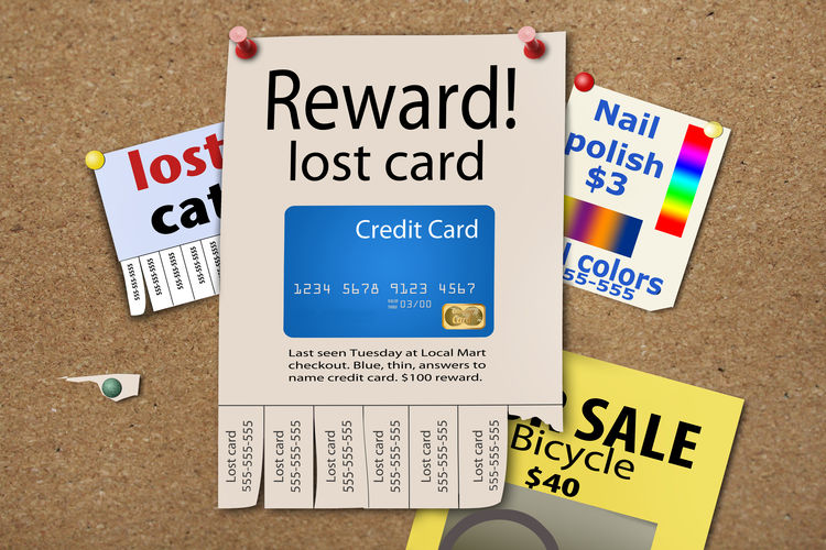 Reward poster for lost credit card. Bank Card Lost Poster Credit Card Creditcard Lost Lost Credit Card Lost Debit Card Pole Reward Stapled
