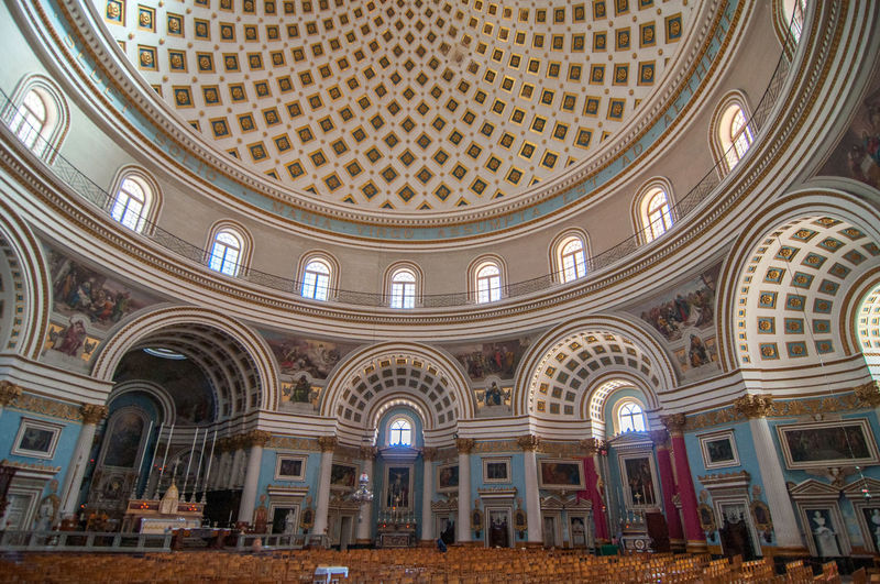 Dome Church of the Assumption, Mosta, Malta 1833 God Malta Mosta Mosta Dome Worship Arch Architecture Belief Building Built Structure Ceiling Church Of The Assumption Dome Low Angle View Maltese Ornate Place Of Worship Prayer Religion Religion And Beliefs Rotunda Of Mosta Travel Destinations Window