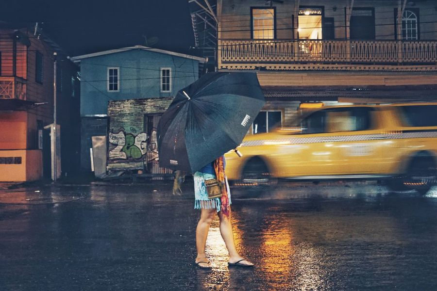 Beautiful Woman Waiting Waiting Crazy Fun Umbrella Rainy Day Waiting For Taxi Escape From Reality Rain Wet Transportation Real People Street EyeEm Nature Lover Swinginginaplumtree EyeEmNewHere City Car Outdoors Land Vehicle One Person