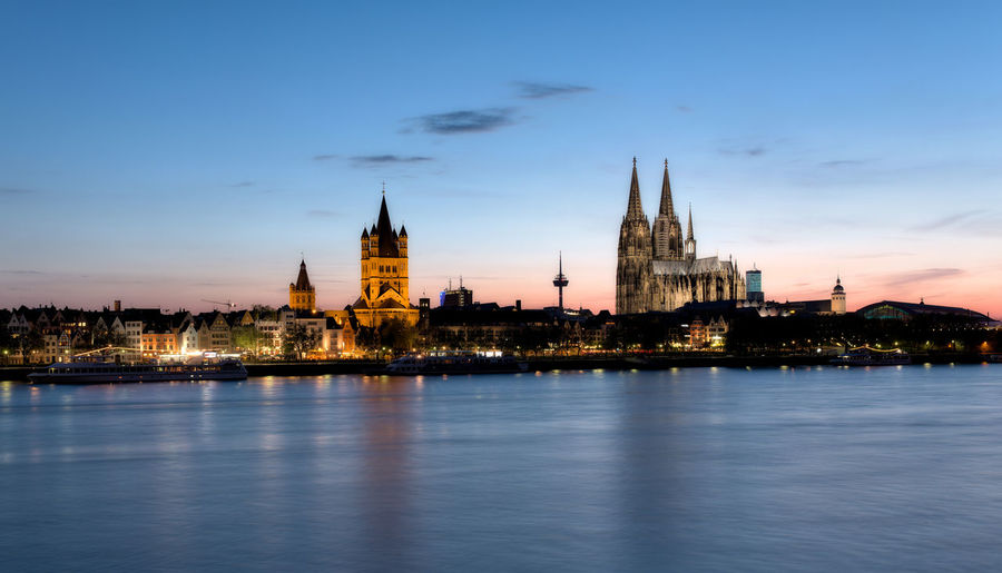 Cologne Cathedral , Cologne. Cathedral Church Cologne Cologne , Köln,  Cologne Cathedral Cologne Cathedral, Germany Cologne, Germany Architecture Building Building Exterior Built Structure Cathedrale City Cityscape Cloud - Sky Cologne Cathedral Dome Dusk Government Illuminated Nature No People Outdoors River Sky Spire  Tower Travel Travel Destinations Water Waterfront