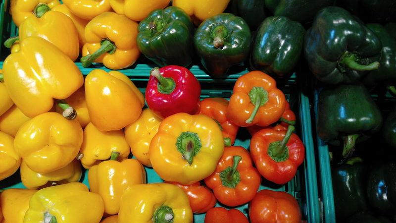 Freshness Food And Drink Vegetable Market Healthy Eating Food Abundance Pepper Piment Pimenton Pimento Piments Vegetables