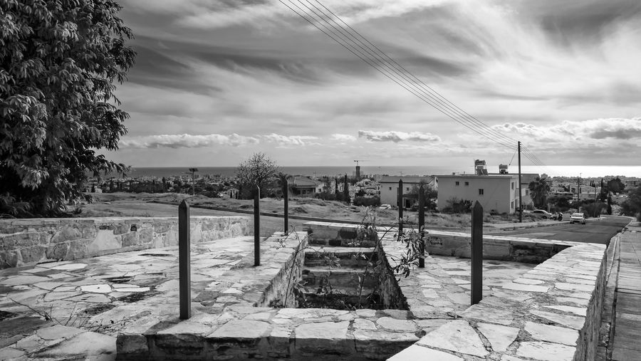 Sky Cloud - Sky Architecture Built Structure Day Nature No People Tree Outdoors Building Exterior Water Plant Abandoned History Transportation Old Cable Railing Staircase Blackandwhite Black And White Landscape EyeEm EyeEm Best Shots Landscape_photography