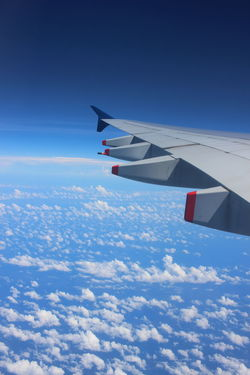 Airplane Airplane Wing Beauty In Nature Cloud - Sky Flying Journey Nature No People Sky Transportation