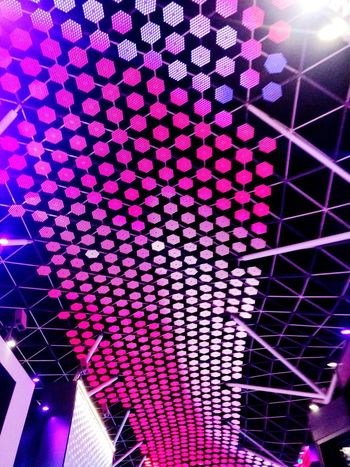 city Walk Dubai Illuminated Technology Modern Multi Colored Pink Color Pattern Purple Neon Architecture Built Structure Digital Signage Ceiling Fairy Lights Disco Lights Seamless Pattern Purple Color Architectural Design Disco Ball Christmas Bauble Hanging Light Recessed Light Skylight Disco Dancing Ceiling Light  Billboard Pixelated Architectural Detail LINE Dance Floor Architecture And Art
