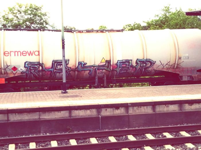 Let's hit this whole train. Graffiti Art Train Tag Traveling On The Go