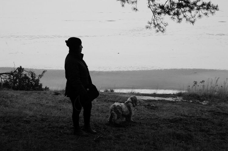 Hanging Out By The Lake Dogslife Sillouette Taking Photos Selfies Blessed  EyeEm Nature Lover Eyem Black And White Shadow Week On Eyeem Looking Away Eye For Photography Black And White Dog Of My Life Humans Best Friend