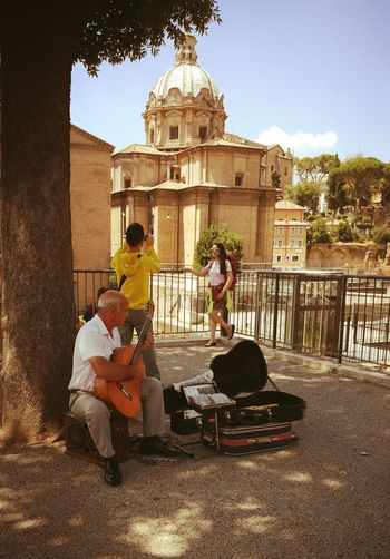The Journey Is The Destination Last Week i went to Rome , Italy . While walking from thd Roman Forum to the Capitol Hill i stopped to Listen the Angelic Music this man and his Guitar were able to do. All the Classical Music on one small guitar. Man Journey People And Places