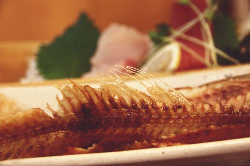 Bone  Fish Minimalism Learn & Shoot: Simplicity Deceptively Simple Food Food Porn Awards Izakaya Japan Close-up Depth Of Field Getting Inspired EyeEm Best Shots IPhoneography Pastel Roasted Onthetable Japanese Food Eating Hokke Fish Arabesque Greenling