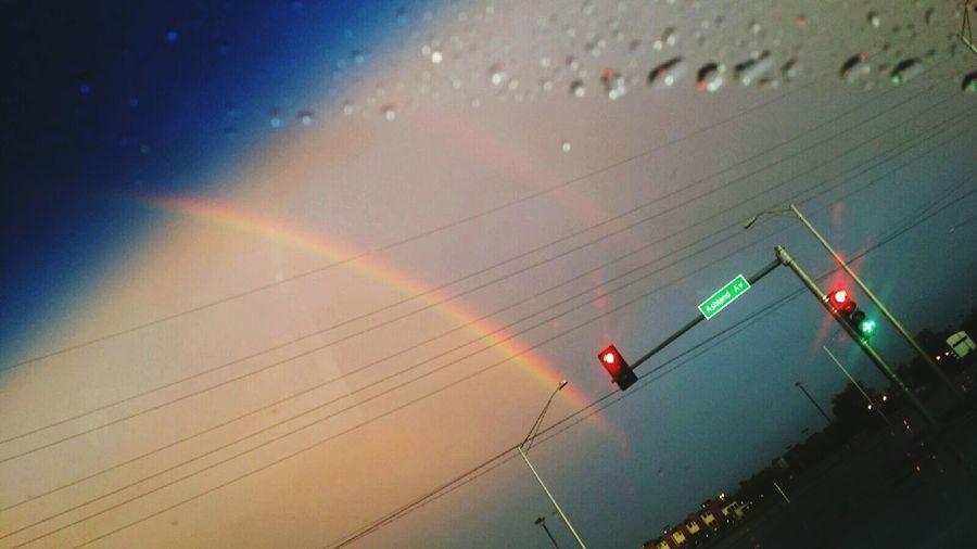 rainy rainbows Rainbow Sky Nature