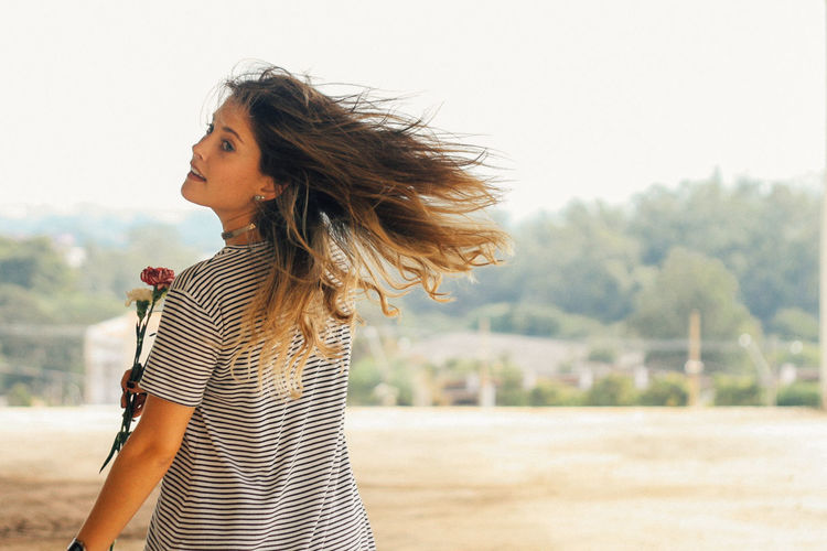 let your hair down Hair50mm Canon Canonphotography Casual Clothing Flower Fresh Girl Girl Power Hair Portrait Eyeemphoto