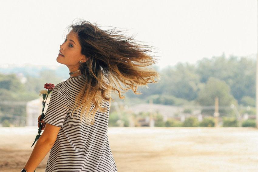 let your hair down Hair50mm Canon Canonphotography Casual Clothing Flower Fresh Girl Girl Power Hair Portrait Eyeemphoto
