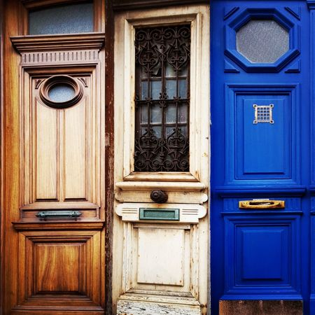 choose wisely.. Travel Vacation Dunkirk France Door Decisions EyeEm Selects Full Frame Blue Wood - Material Backgrounds Door Closed Close-up Architecture Building Exterior Built Structure