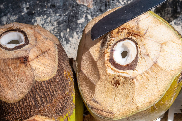 Close-up No People Day Chopping Coconut Machete Coconut Water Drink Freshness Vacations Tourism Tropical Climate Tropical Fruit Cutting Saona Island Caribbean Organic Healthy Lifestyle Small Business Outdoors Summer Preparation  Sharp Food And Drink Freshly Produce