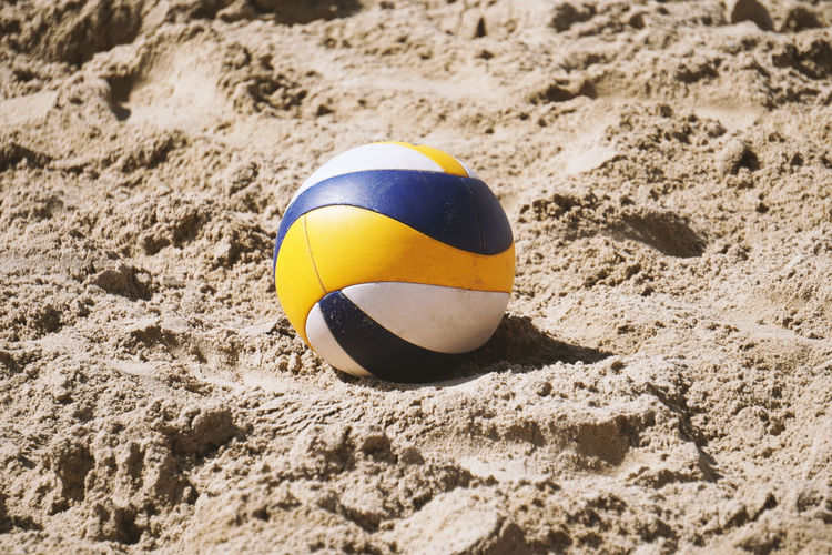 beach volleyball No People Day Outdoors Sunlight Volleyball Beachvolleyball Beach Volleyball Beach Volley Sport Sports Summer Sand Beach Ball Volleyball - Sport