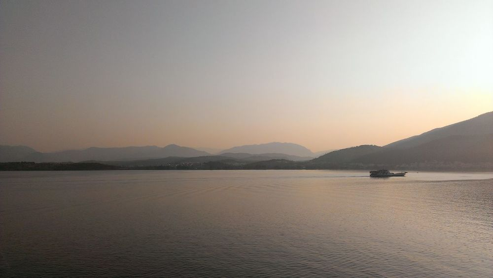 Traveling Landscape On A Boat Greece