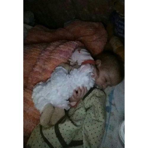 babygirl cuddling her stuffy lastnight 😊 Babygirl Skye Socute Stuffy sleeping loveher