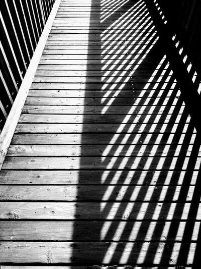 Overpass Black And White Bridge Wooden LINE Shadow Pattern Sunlight Seamless Pattern EyeEmNewHere