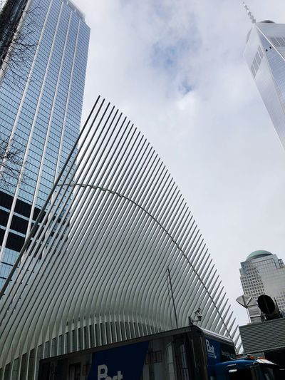 Buildings Architecture Built Structure Building Exterior Modern Low Angle View Sky Day Skyscraper City Cloud - Sky Outdoors No People