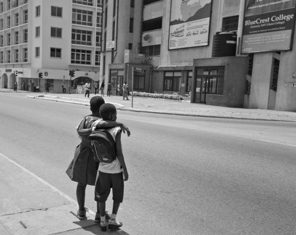 friends Africa Bonding Childhood Kids Street The Street Photographer - 2017 EyeEm Awards Two People Walking