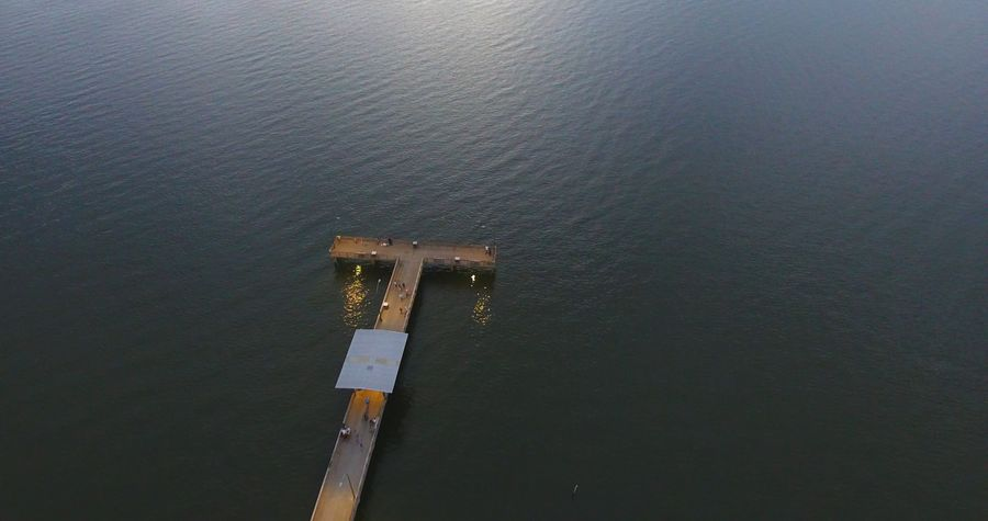 Water Outdoors Aerial View Mobile Bay Dusk