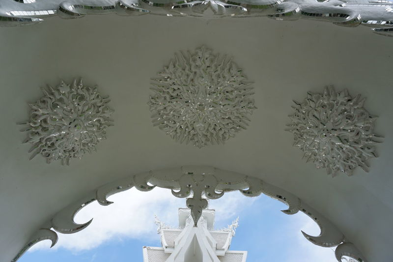 White temple Amazing Architecture Art Blue Sky Carving Chiang Rai City Crystal Culture Day Daylight Daytime Exquisite Beauty New Art No People North Outdoors Religion Sky Temple Thai Thailand White White Temple Wonderful