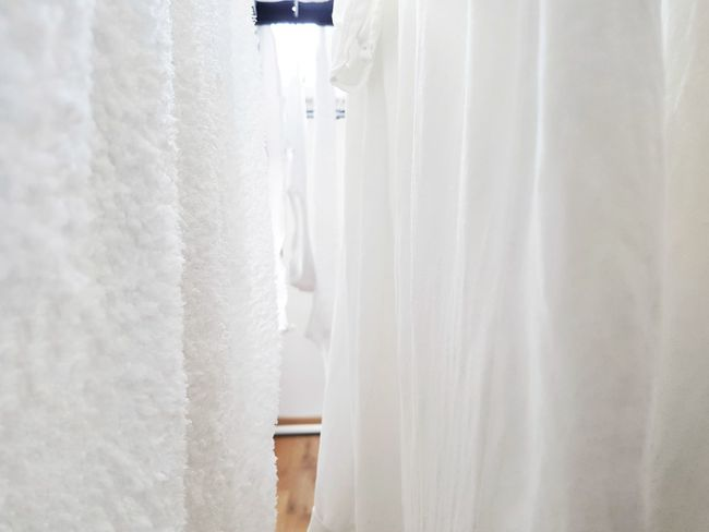 No People Close-up Day White White Color Clothes Hanging Around Dry Clean Selective Focus Daily Business  Homework