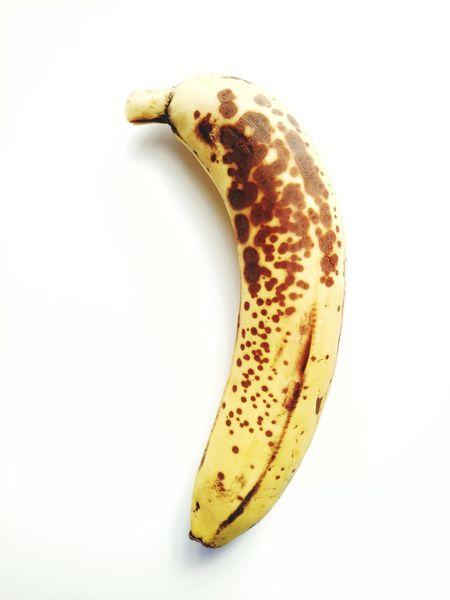 Spotted Yellow No People White Background Close-up Banana Fruit Banana Fruit Mobilephotography Mobile Photography Lgv20 Lgv20photography