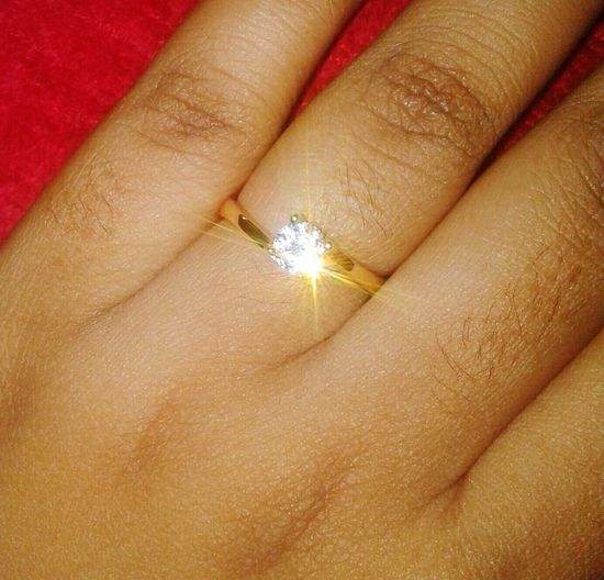 Ramadan Gift Love Gift Human Hand Luminosity Palm Nail Polish Full Frame Fingernail Human Finger Close-up Diamond Ring Precious Gem Glittering