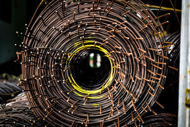 Circle Close-up Concentric Design Detail Focus On Foreground Geometric Shape Illuminated Matel Metal Nature Night No People Outdoors Pattern Security Shape Spiral Spirals Warning Sign