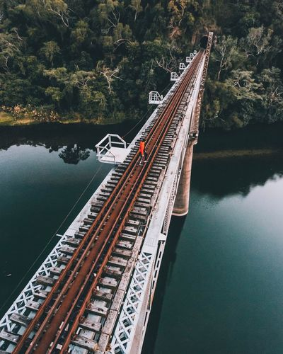 Bridge Transportation Water Mode Of Transport Bridge - Man Made Structure Nautical Vessel Connection River High Angle View Day Architecture Freight Transportation Tree Outdoors No People Nature