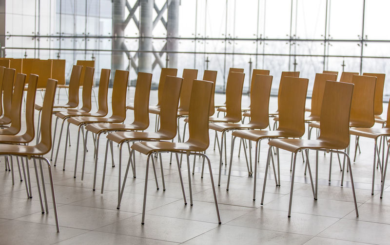 Rows of chairs - meeting background.