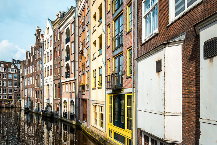 Residential buildings by canal