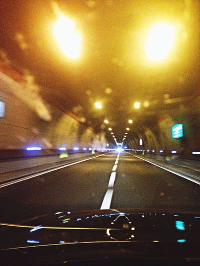 Starlight in a Tunnel ... Drive&shot Road