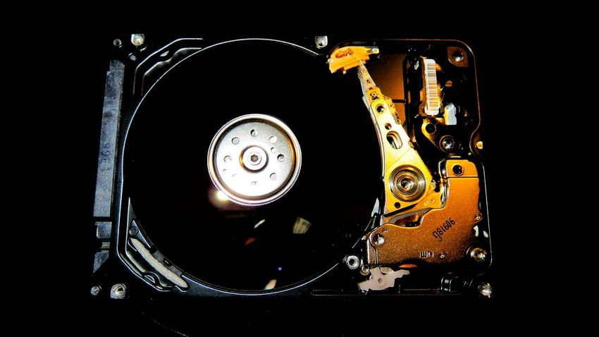 Close Up Technology Black Background Technology No People Computer Parts Disk Harddisk Harddiskdrive Close-up Indoors  Colorful Canon Canonphotography Reflection