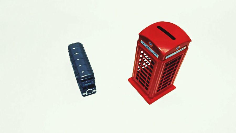Souvenirs Londonbus Londontelephone Colorsplash Composition