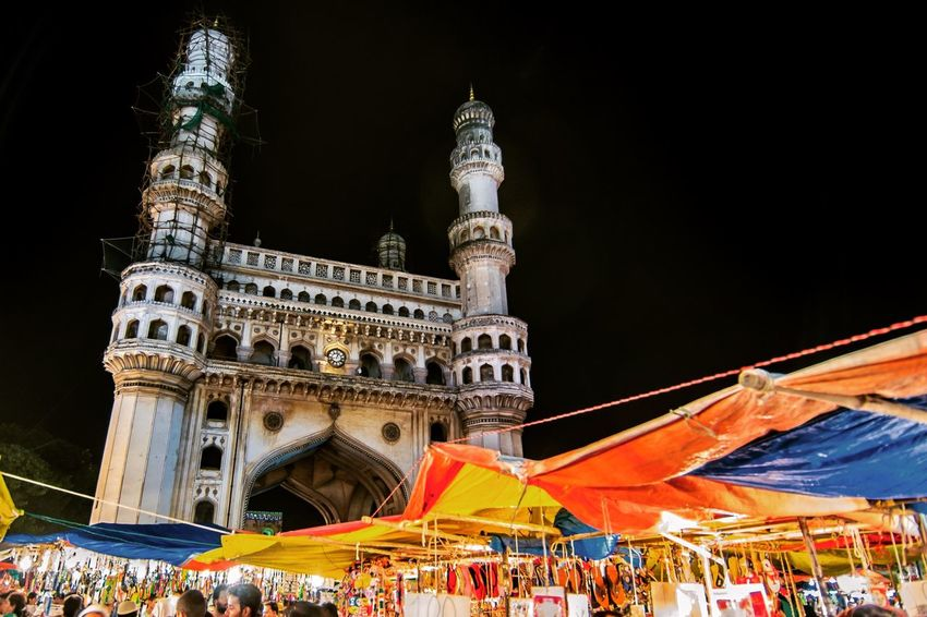 Charminar IPhone Telangana Telanganatourism Ramzan Charminar Large Group Of People Tourism Architecture Travel Destinations Outdoors Low Angle View Leisure Activity Built Structure Women Real People Building Exterior Lifestyles Vacations Night Men Sky City People