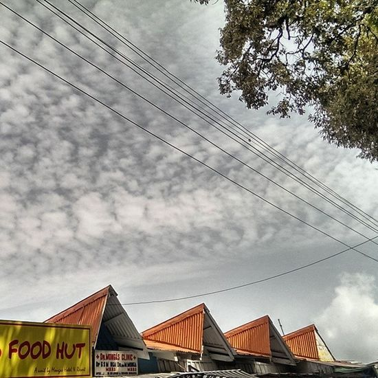 Weird Cloud Patterns Cloudy Day Huts Tree Roof Himachal Dalhousie Nature Lpflyinghigh Indiapictures Incredibleindia India Indiatraveller Wires Wire Bluesky Sky Nofilter