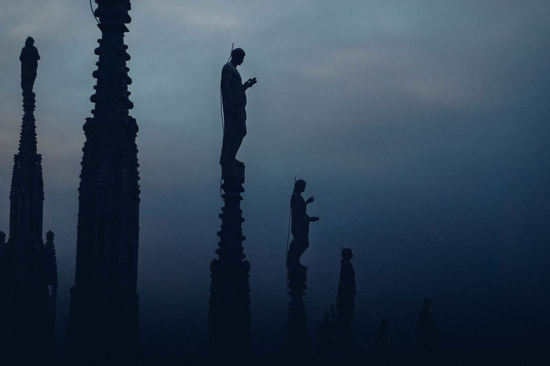 Sleeping Beauty - (Duomo di Milano) Angle Blurred Classic Detail Detailed Duomo Duomo Di Milano EyeEm Best Shots Full Length Hidden Gems  Italy Love Mist Mystic Outdoors Peace Precise Silhouette Sky Statues Adapted To The City The Architect - 2017 EyeEm Awards