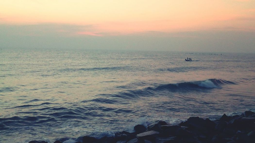Sea Beach Water Nature Sky Sunrise Pondicherry RockBeach