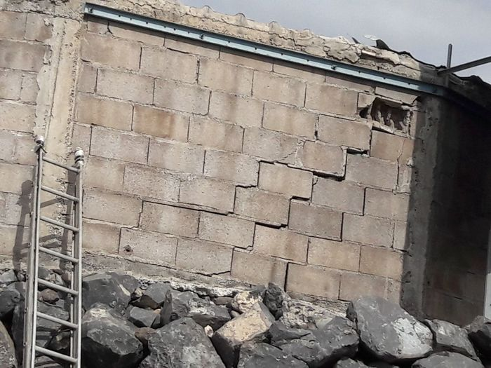 The Wall Brick Wall No People Day Outdoors Building Exterior Wall Ladder On The Wall Ladder Escape Barrier Cracked Falling Apart Downfall DownfallofUsAll Makelovenotwalls