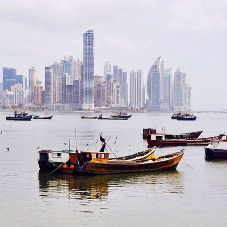 Cintacostera3 Pty My Art By Pit O. Bahía De Panamá Botes Skyscrapers Panama City