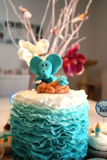Cupcakes Cake Baby Sweet Turquoise Tortenpost