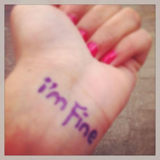 #i'm #fine
