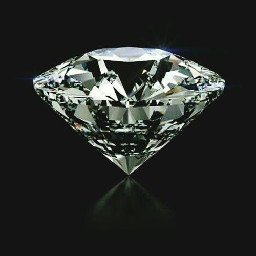 Diamond - Gemstone Precious Gem Black Background Crystal Gemstone  Shiny Luxury No People
