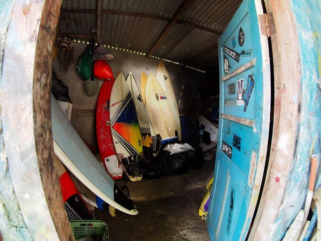 Room of surfing equipment Surf Culture Surfinglife Surfboard Surfing No People