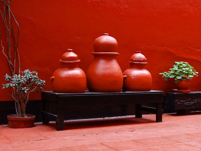 silent moment Arequipa Bench Ceramic Culture Monasterio De Santa Catalina Monastery No People Peru Red Red Wall Silence Still Life Travel Destinations EyeEmNewHere